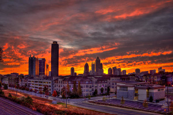 Georgia Power Company Photograph - Sunrise Atlantic Station Midtown Atlanta by Reid Callaway
