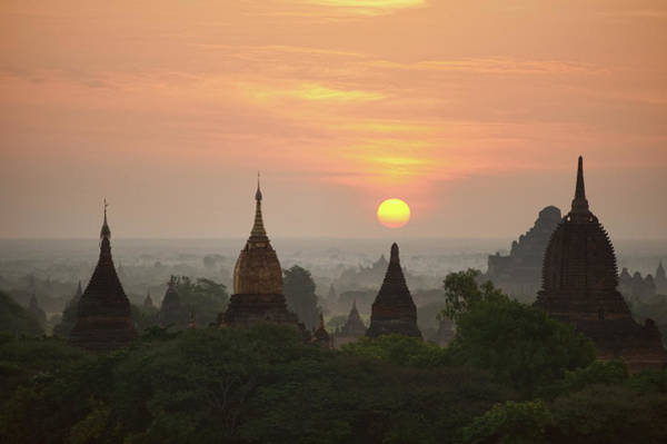 Foliage Photograph - Sunrise Bagan II by Wendy