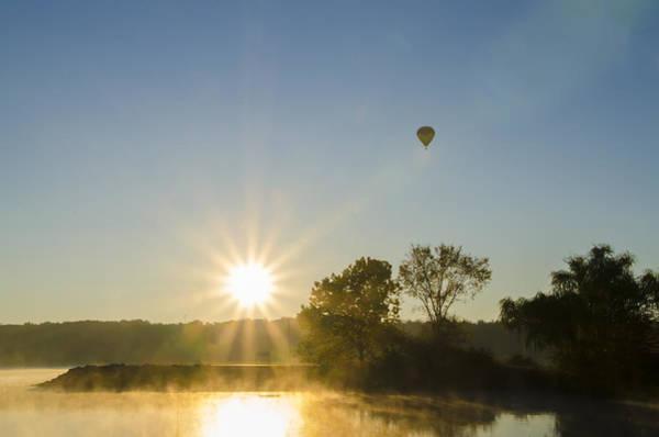 Photograph - Sunrise Balloon Ride Over Lake Nockamixon by Bill Cannon