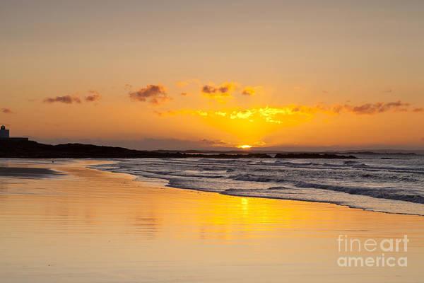 Wall Art - Photograph - Sunrise Bamburgh Beach Northumberland England by Colin and Linda McKie