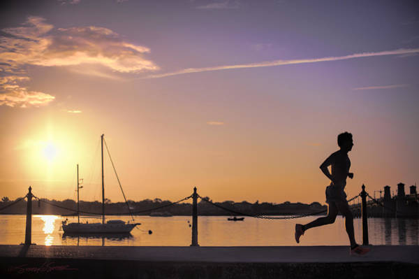 Sunrise Bayfront Runner Art Print