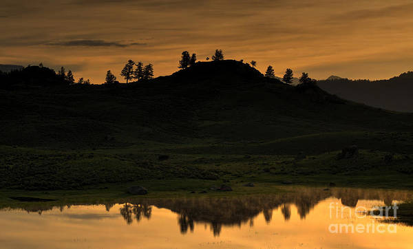 Photograph - Sunrise Behind A Yellowstone Ridge by Bill Gabbert