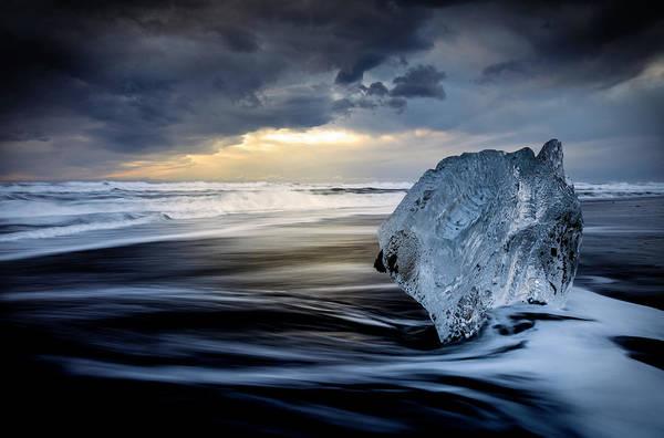 Wall Art - Photograph - Sunrise Between Ice by Rodrigo N??ez Buj