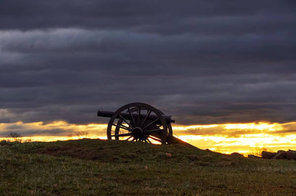 Photograph - Sunrise Cannon At Gettysburg by Bill Cannon