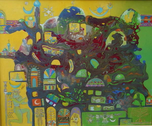Baghdad Painting - Sunrise City by Hira Bosh