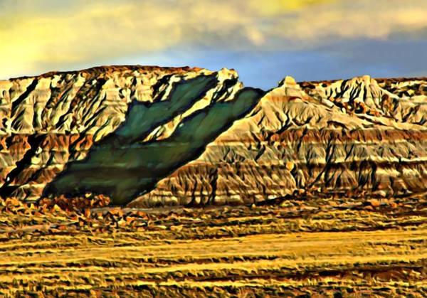 Digital Art - Sunrise Crystal Ridge Death Valley National Park by Bob and Nadine Johnston