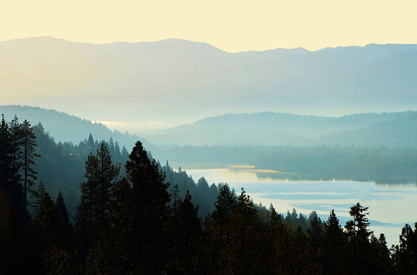 Photograph - Sunrise Donner Lake California by Marilyn MacCrakin