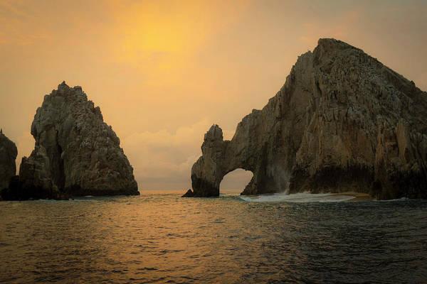 Lucas Photograph - Sunrise, El Arco, The Arch, Cabo San by Douglas Peebles