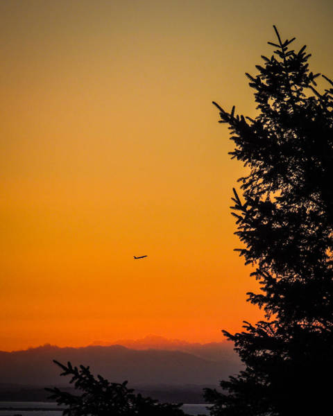Photograph - Sunrise Flight Departing Shannon Airport by James Truett