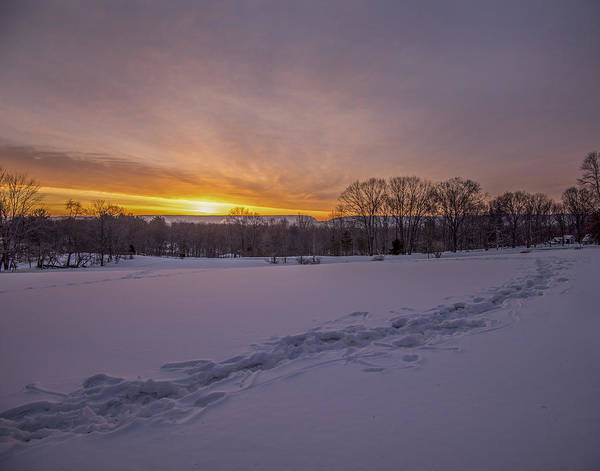 Wall Art - Photograph - Sunrise Footsteps  by Dave Sandt