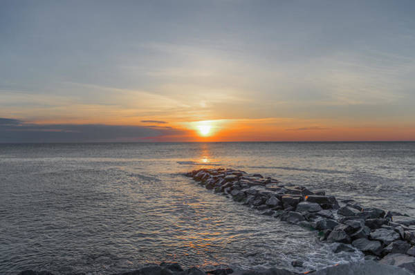 Jetti Wall Art - Photograph - Sunrise From The Jetti by Bill Cannon