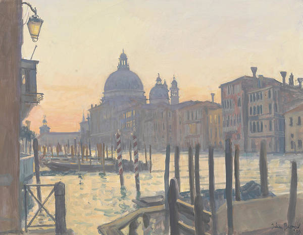 Dome Painting - Sunrise Grand Canal by Julian Barrow