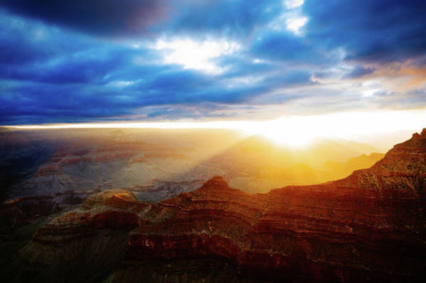 Geology Photograph - Sunrise, Grand Canyon by Image By Christopher Jacobs