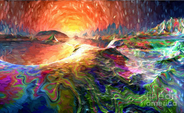 Wall Art - Digital Art - Sunrise In A Magical World  by Heinz G Mielke