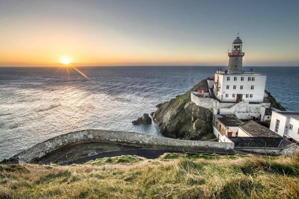 Konica Wall Art - Photograph - Sunrise In Baily Lighthouse Dublin Ireland by Giuseppe Milo