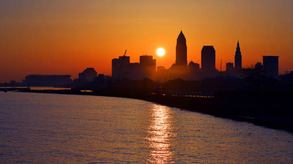 Photograph - Sunrise In Cleveland by Clint Buhler