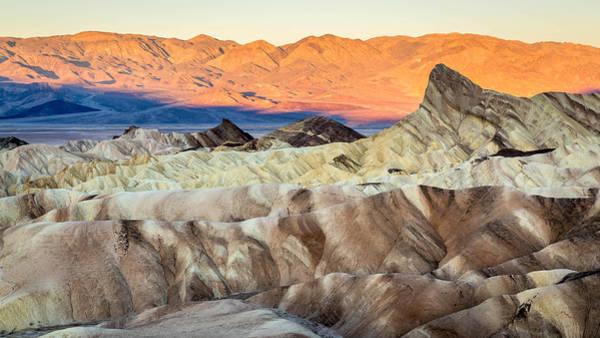 Photograph - Sunrise In Death Valley Zabriskie Point by Pierre Leclerc Photography