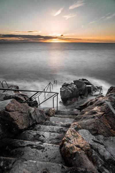 Konica Wall Art - Photograph - Sunrise In Hawk Cliff Killiney Co. Dublin Ireland by Giuseppe Milo