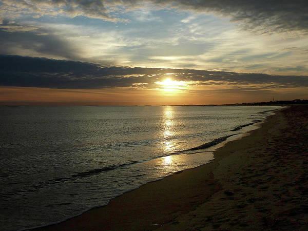 Sunrise In Norfolk Va Art Print
