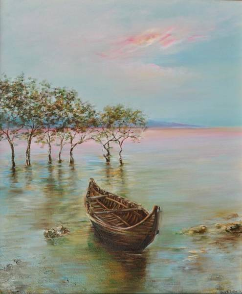Bangladesh Painting - Sunrise In Teknaf Bangladesh by Natalia Elerdashvili