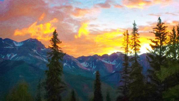 Digital Art - Sunrise In Telluride by Rick Wicker