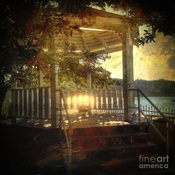 Photograph - Sunrise In The Gazebo by Charlene Mitchell