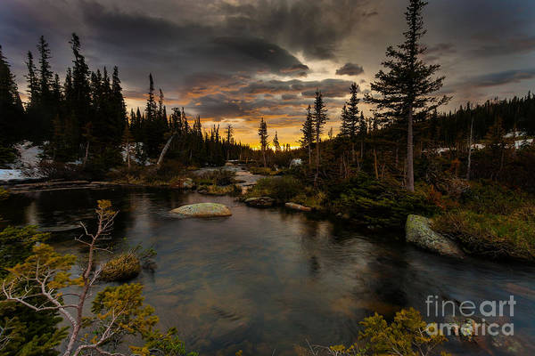 Wall Art - Photograph - Sunrise In The Indian Peaks by Steven Reed
