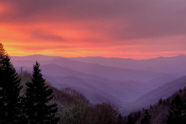 Dawn Photograph - Sunrise In The Smoky Mountains by Dennis Govoni