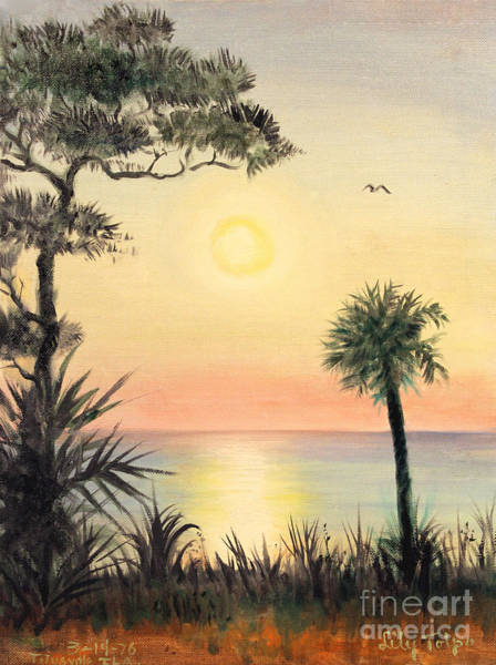 Painting - Sunrise In Titutsville by Art By Tolpo Collection
