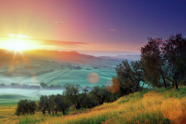 Tuscany Photograph - Sunrise In Tuscany by Mammuth