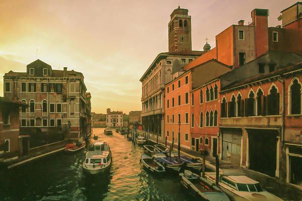Mixed Media - Sunrise In Venice by Cliff Wassmann