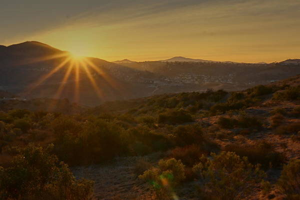 Photograph - Sunrise Mission Trails San Diego  by Jeremy McKay
