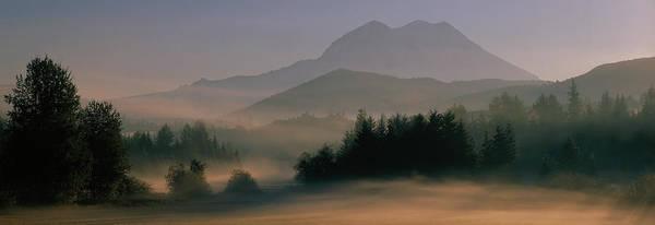 Envelop Wall Art - Photograph - Sunrise, Mount Rainier Mount Rainier by Panoramic Images
