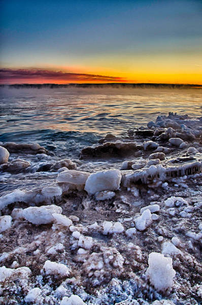 Photograph - Sunrise North Of Chicago Lake Michigan 1-3-14 001 by Michael  Bennett