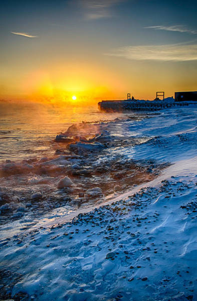 Photograph - Sunrise North Of Chicago Lake Michigan 1-3-14 003 by Michael  Bennett