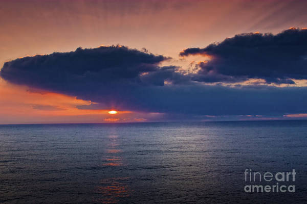 Photograph - Sunrise Off Maui by Ronald Lutz
