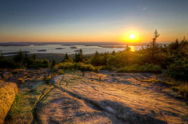 Photograph - Sunrise On Cadillac Mountain by At Lands End Photography
