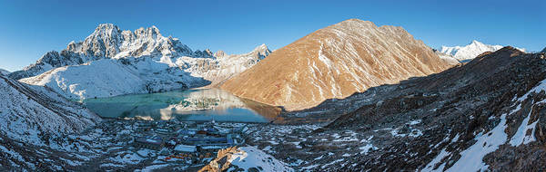 Indian Peaks Wilderness Photograph - Sunrise On Gokyo Remote Himalaya by Fotovoyager