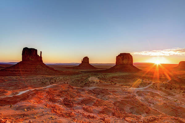 Wall Art - Photograph - Sunrise On Monument Valley by Loic Lagarde