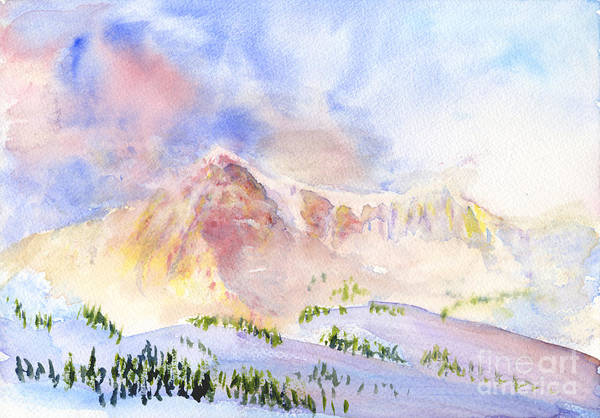 Painting - Sunrise On Mount Ogden by Walt Brodis