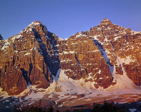 Photograph - 1m3420-sunrise On Mt. Tuzo And Deltaform Mountain by Ed  Cooper Photography