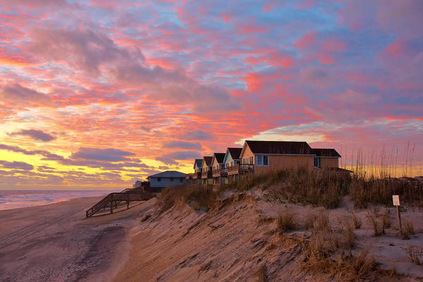 Photograph - Sunrise On Obx by Mary Almond
