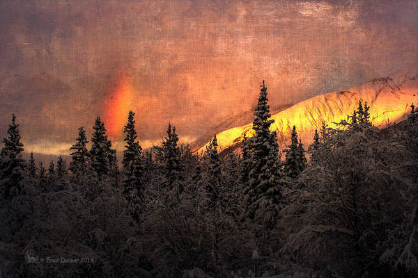 Photograph - Sunrise On Sourdough Peak by Fred Denner