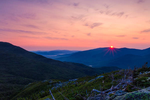 Photograph - Sunrise On The Boott Spur Trail by Jeff Sinon