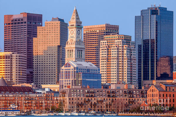 Photograph - Sunrise On The Boston Waterfront by Susan Cole Kelly