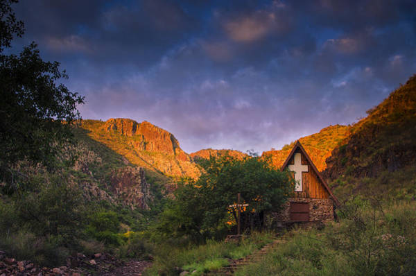 Texas Landscape Photograph - Sunrise On The Chapel by Aaron Bedell