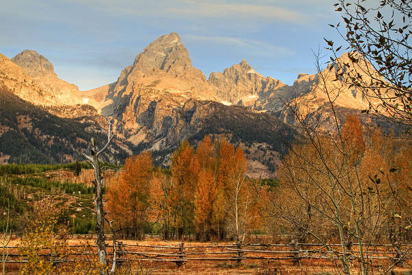 Wall Art - Photograph - Sunrise On The Grand Tetons by Donna Kennedy