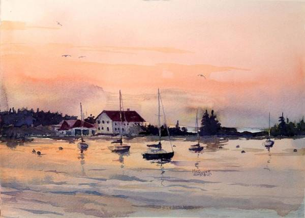 Lake Superior Painting - Sunrise On The Harbor by Spencer Meagher