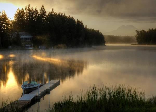 Wall Art - Photograph - Sunrise On The Lake by Peter Mooyman
