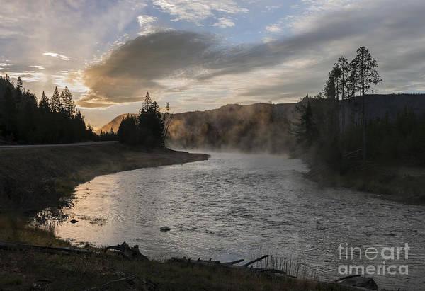 Wall Art - Photograph - Sunrise On The Madison River - Yellowstone by Sandra Bronstein
